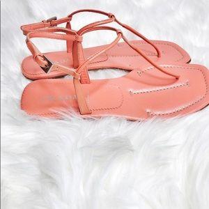 Prada Flat Patent Leather Thong Sandals